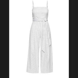 Banana Republic • Stripe Linen/Cotton Jumpsuit
